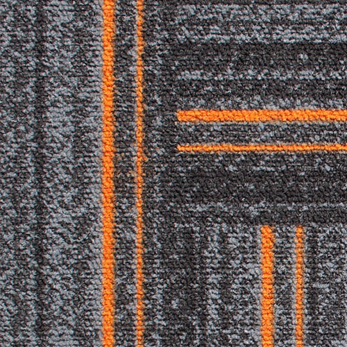 Times Square Orange Grey Terracotta Orange Contract Carpet