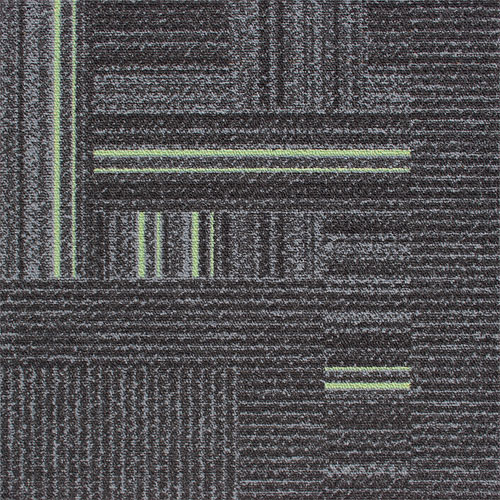Times Square Lime Grey Green Contract Carpet Tile 100