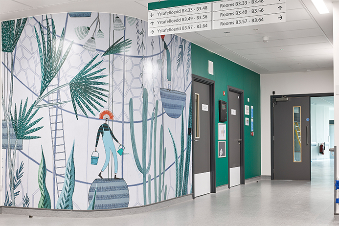 Gradus Wall Protection installed in the Grange University Hospital
