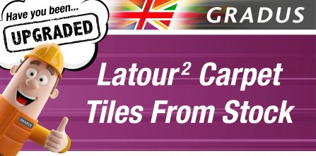 Latour 2 Carpet Tiles from Stock