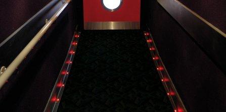 Led Aisle Floor Lighting Gradus Contract Interior