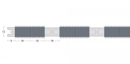 Esplanade 9000 Matting - 12mm Closed Construction - Double Wiper