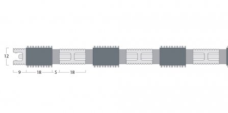 Esplanade 9000 Matting - 12mm Open Construction - Single Wiper