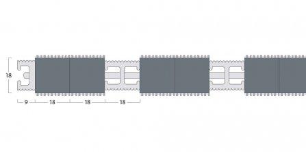Esplanade 9000 Matting - 18mm Closed Construction - Double Wiper
