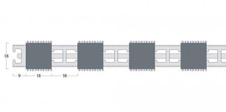 Esplanade 9000 Matting - 18mm Closed Construction - Single Wiper