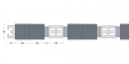 Esplanade 9000 Matting - 18mm Open Construction - Double Wiper