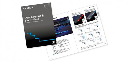 NEW STAIR EDGINGS AND FLOOR TRIMS CATALOGUE FROM GRADUS